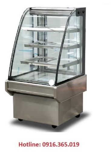Tủ trưng bày bánh lạnh 70cm kính cong thái lan